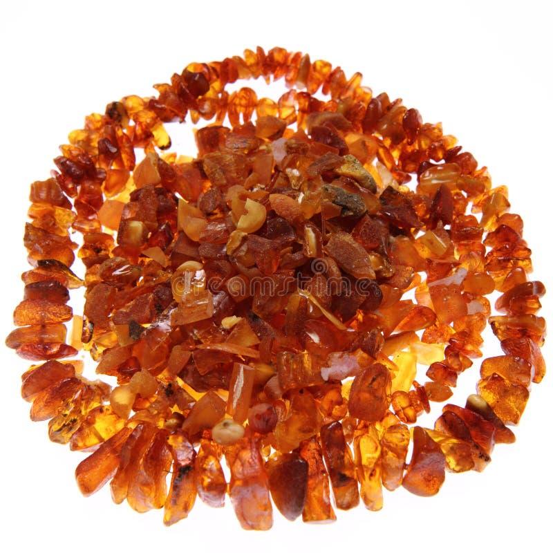 Amber halsband en stenen stock afbeeldingen