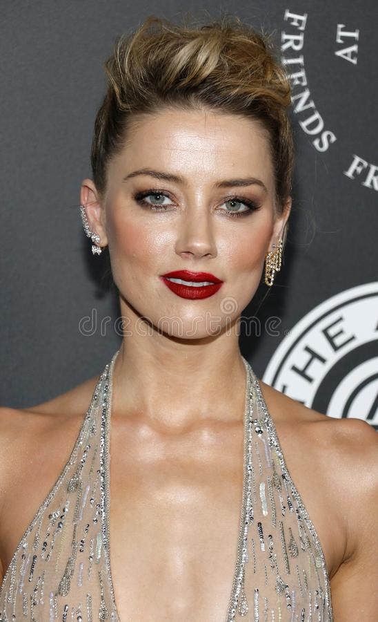 Amber Heard. At the Art Of Elysium`s 11th Annual Heaven Celebration held at the Barker Hangar in Santa Monica, USA on January 6, 2018 royalty free stock images