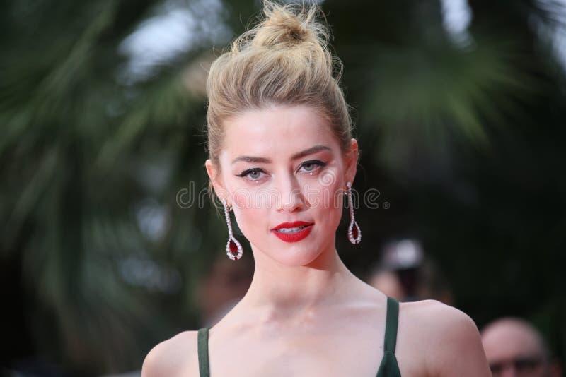 Amber Heard assiste au criblage du ` désolé d'ange de ` photo libre de droits