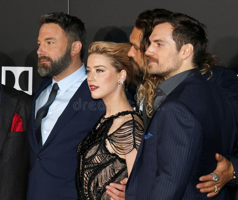 Amber Heard, Ben Affleck, Jason Momoa And Henry Cavill