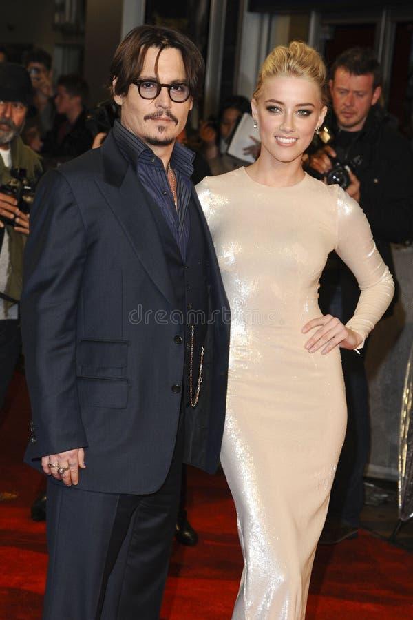 Amber Heard, Johnny Depp stock photography