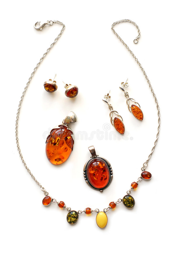 Download Amber jewelry stock image. Image of earrings, pendants - 697353