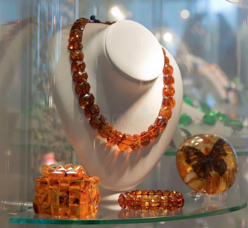 Download Amber jewels stock image. Image of display, nobody, window - 27702703