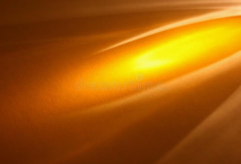Amber light. Streak of amber light coming from top right corner royalty free stock photos