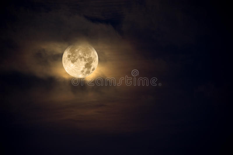 Download Amber moon stock image. Image of orbiting, nobody, blue - 12428143