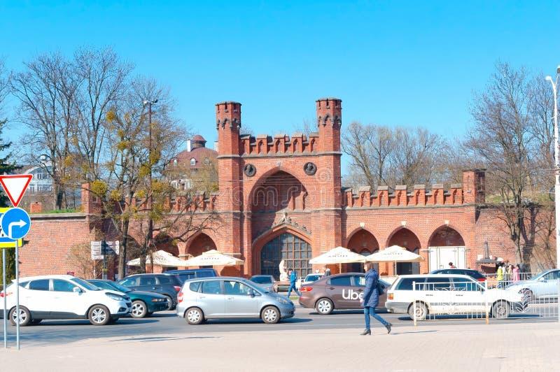 Amber Museum, arquitetura do tijolo vermelho, porta de Prússia, Don Tower de Rossgarten fotos de stock