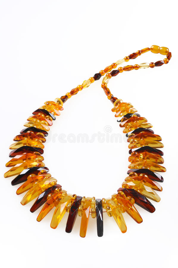 Free Amber Necklace Royalty Free Stock Photo - 14483195