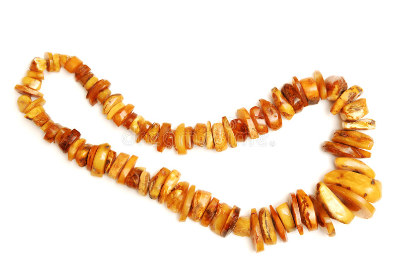 Amber necklace. royalty free stock photography