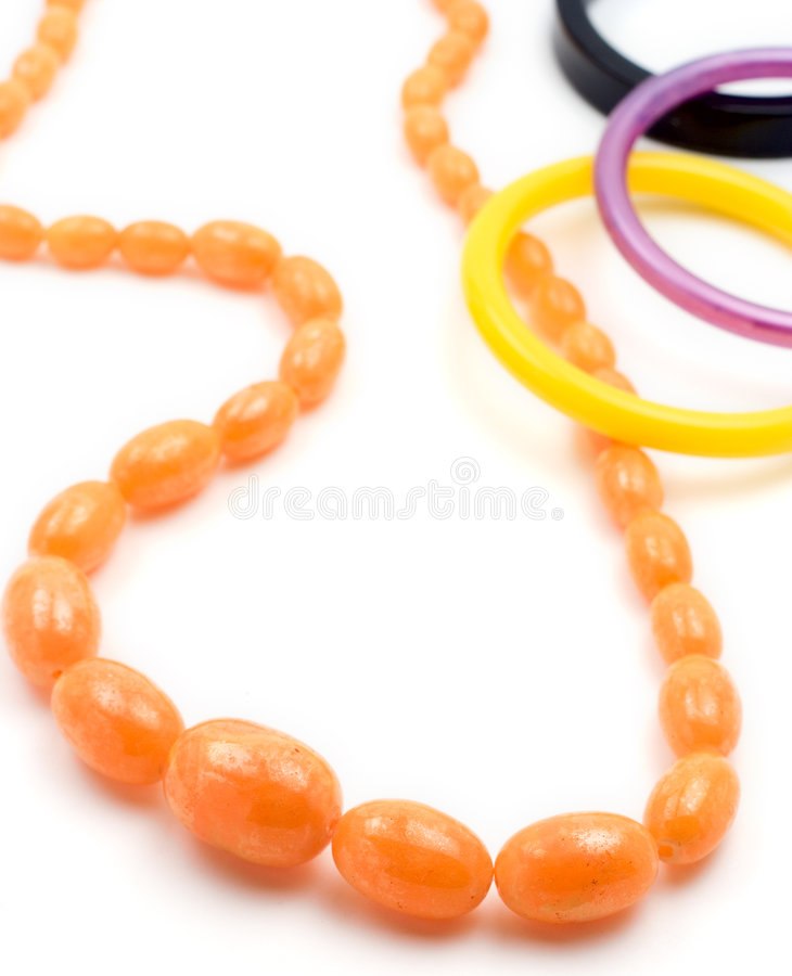 Free Amber Necklace And Bracelets Royalty Free Stock Photography - 606027