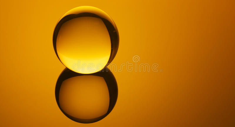 Amber Orb royalty free stock photo