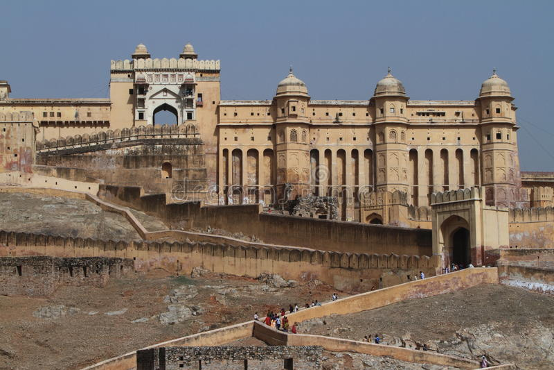 Amber Palace van Jaipur in India royalty-vrije stock fotografie