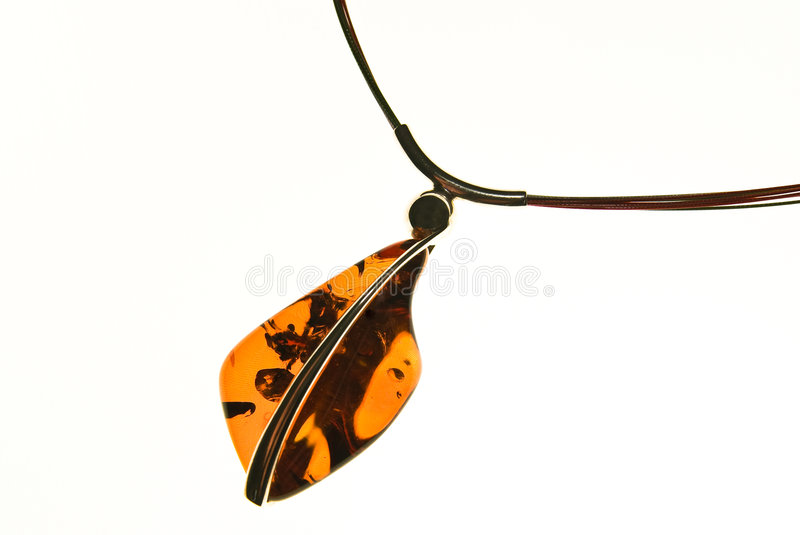 Amber pendant royalty free stock images