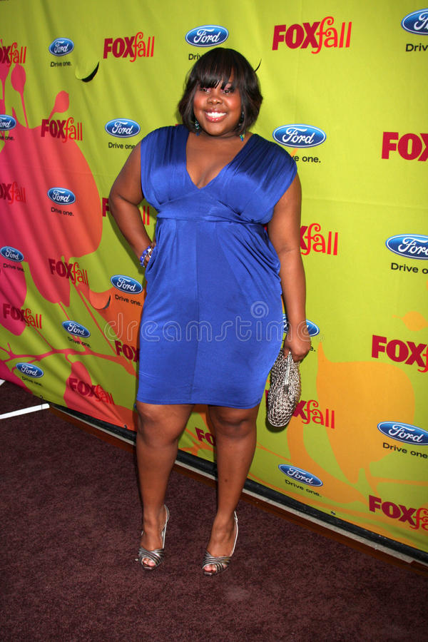 Amber Riley. Arriving at the FOX-Fall Eco-Casino Party at BOA Steakhouse in West Los Angeles, CA on September 14, 2009 stock photo
