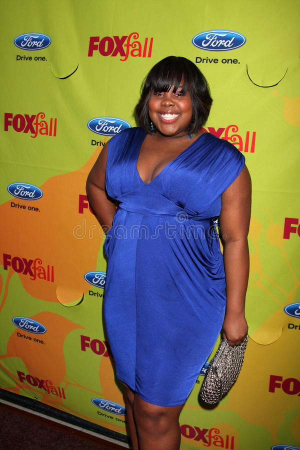 Amber Riley. Arriving at the FOX-Fall Eco-Casino Party at BOA Steakhouse in West Los Angeles, CA on September 14, 2009 stock images