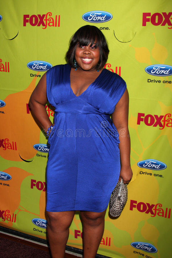 Amber Riley. Arriving at the FOX-Fall Eco-Casino Party at BOA Steakhouse in West Los Angeles, CA on September 14, 2009 stock image