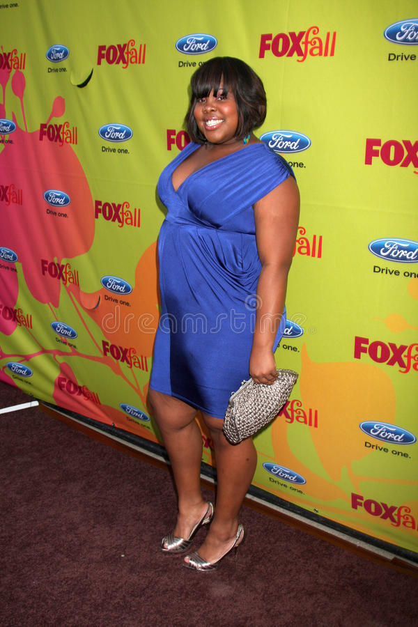 Amber Riley. Arriving at the FOX-Fall Eco-Casino Party at BOA Steakhouse in West Los Angeles, CA on September 14, 2009 royalty free stock photo