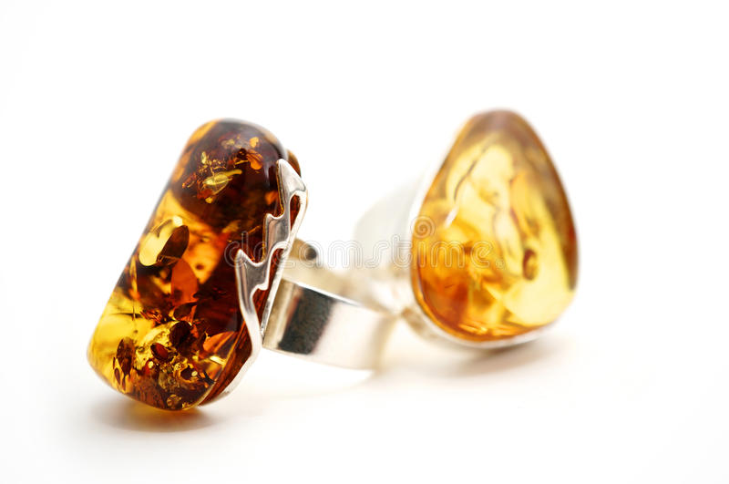 Amber Rings royalty free stock images