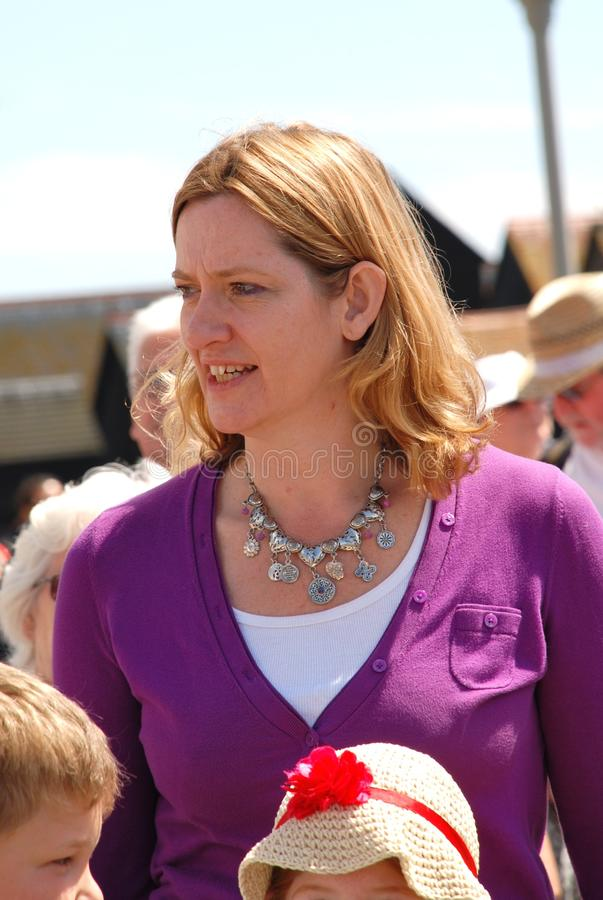 Amber Rudd. Conservative party Member of Parliament for Hastings, attends the launch of Old Town Carnival Week in Hastings, England on July 30, 2011. She was royalty free stock image