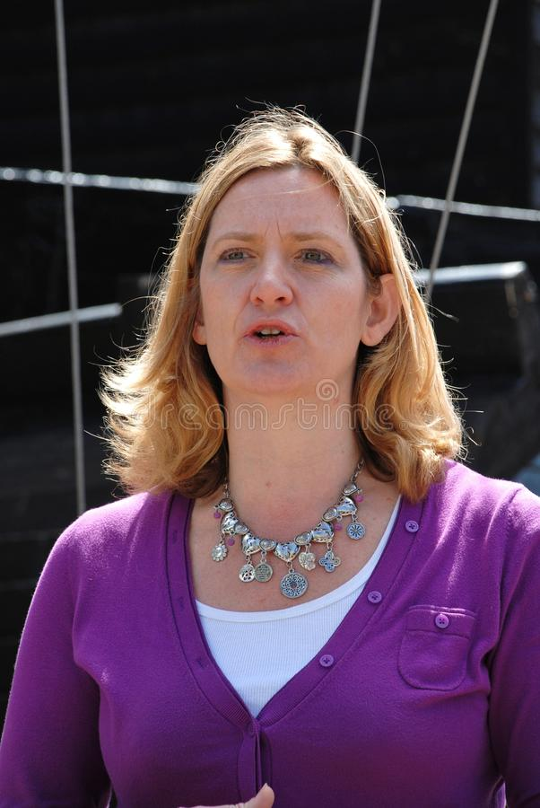 Amber Rudd. Conservative party Member of Parliament for Hastings, speaks at the launch of Old Town Carnival Week in Hastings, England on July 30, 2011. She was royalty free stock images