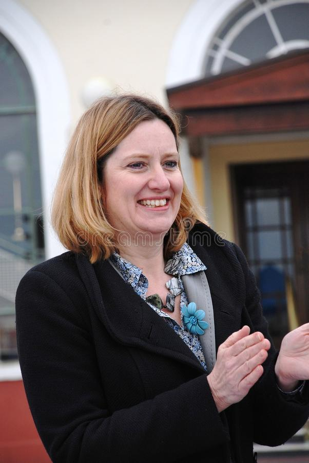 Amber Rudd. Conservative party Member of Parliament for Hastings and Rye, attends a charity event on the seafront at Hastings in East Sussex,England on March stock images
