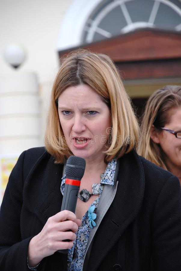 Amber Rudd. Conservative party Member of Parliament for Hastings and Rye, attends a charity event on the seafront at Hastings in East Sussex,England on March royalty free stock images