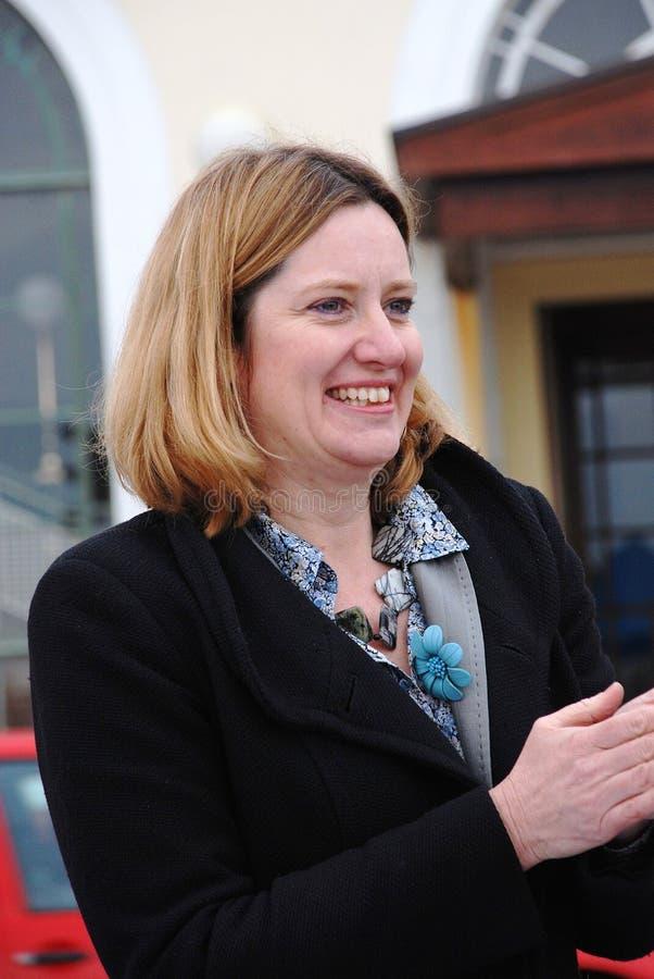 Amber Rudd in Hastings stock foto