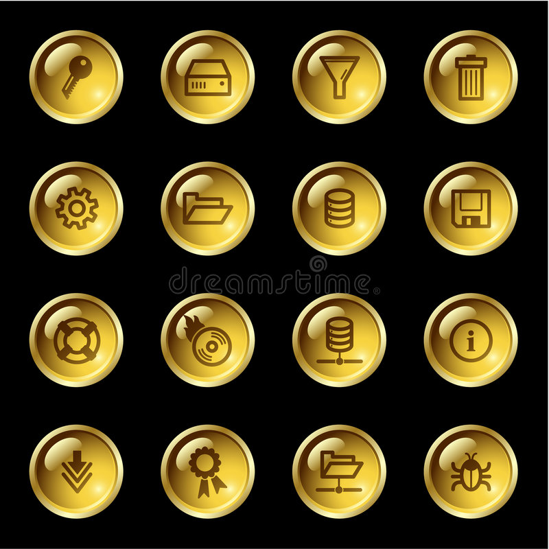 amber się ikoną serwer ilustracji