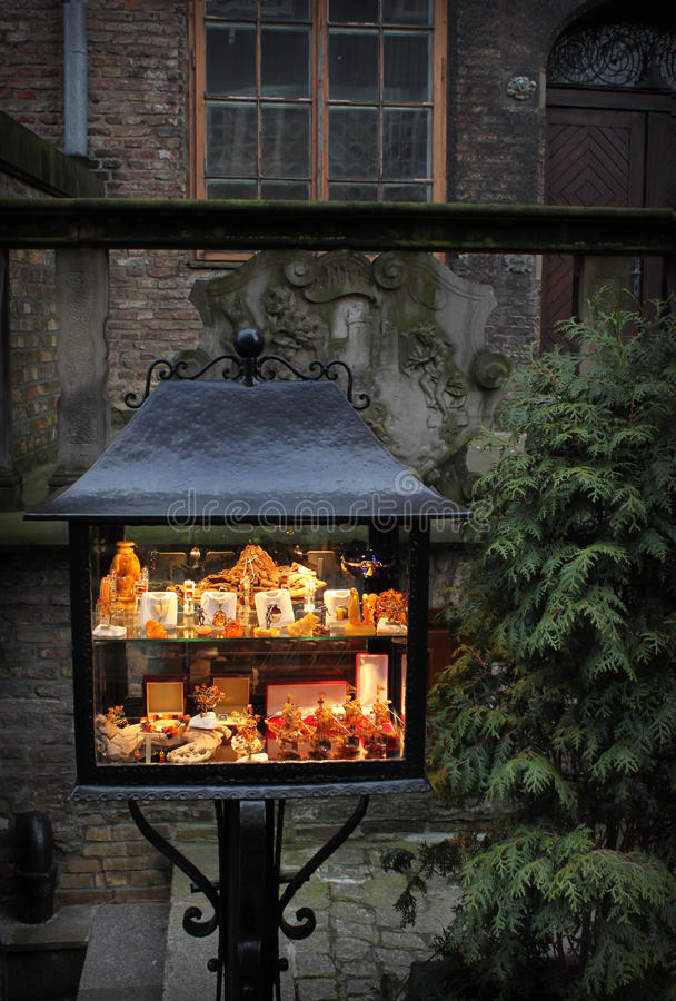 Download Amber Stall In Old City Gdansk, Poland Stock Image - Image of illuminated, tourism: 11845545