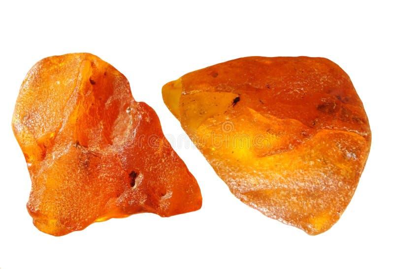Amber stukken stock foto