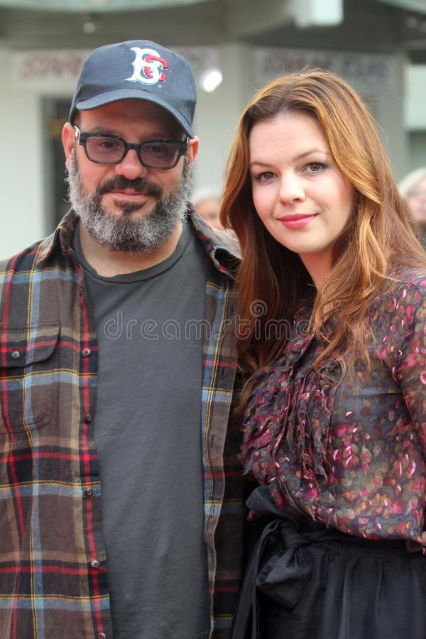 Amber Tamblyn, David Cross stock fotografie