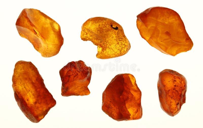 Amber in verschillende kleuren royalty-vrije stock foto's
