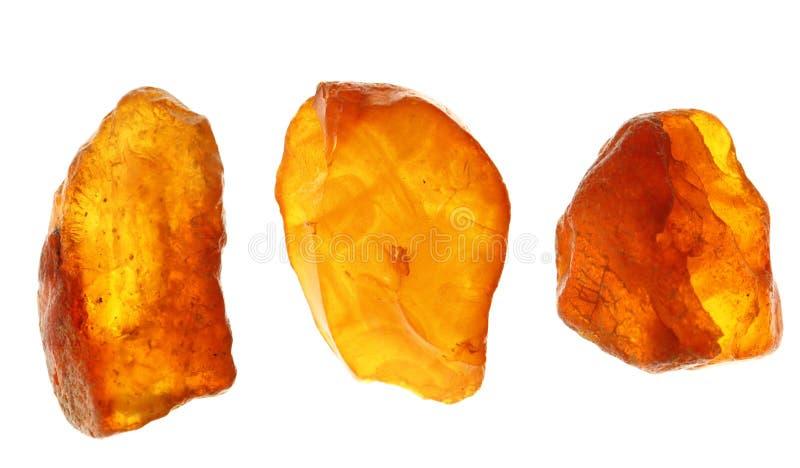 Amber in verschillende kleuren stock afbeelding