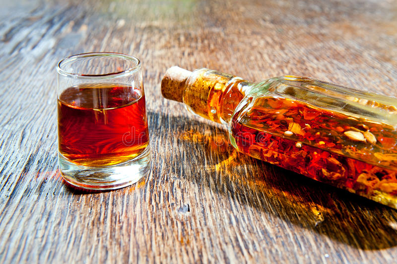 Amber Vodka Royalty Free Stock Images