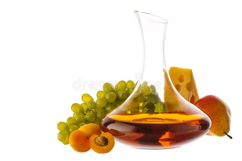 Amber wine. royalty free stock image