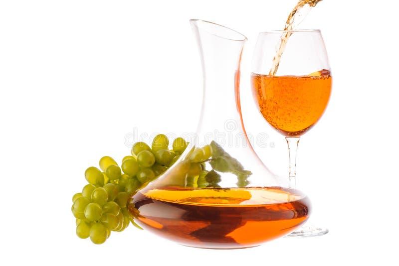 Amber wine. royalty free stock photo