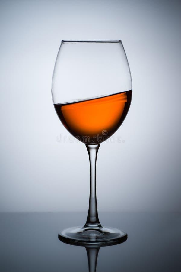 Amber wine stock image