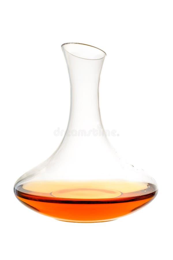 Amber Wine Wijn in karaf royalty-vrije stock afbeelding