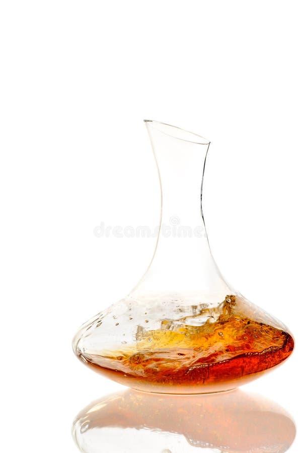 Amber Wine Wijn in karaf royalty-vrije stock foto