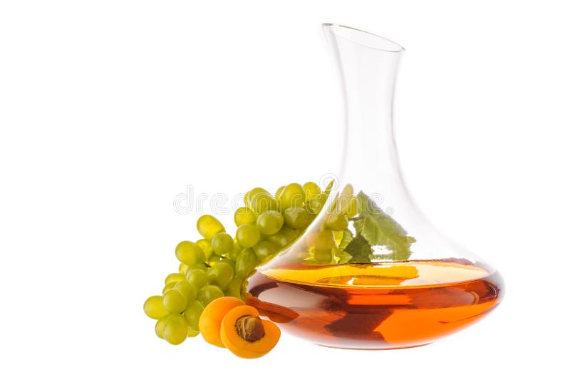 Amber wine. stock image