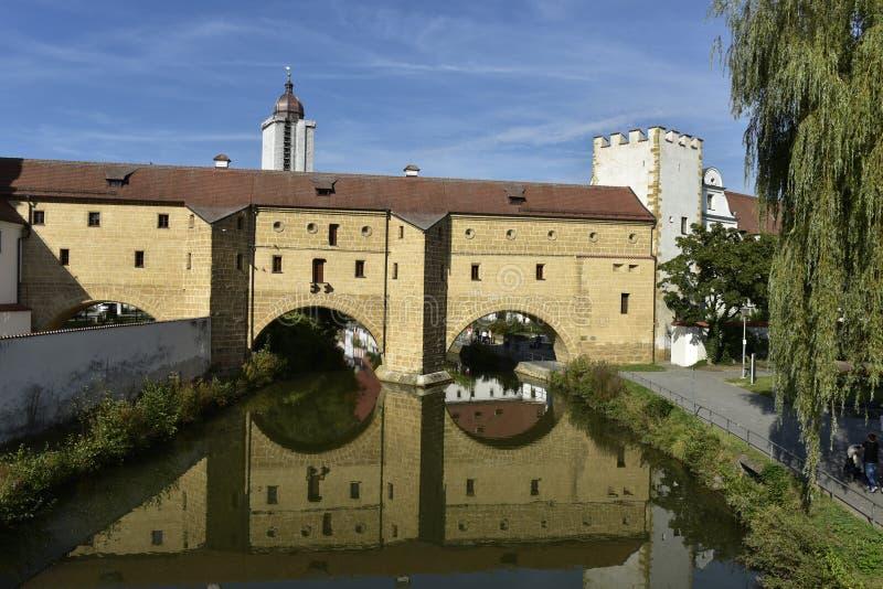 Amberg, espetáculos da cidade foto de stock royalty free