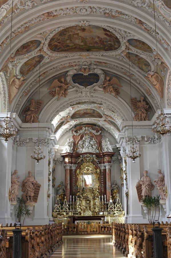 Amberg, Mariahilfkirche (igreja da ajuda de Maria) imagens de stock