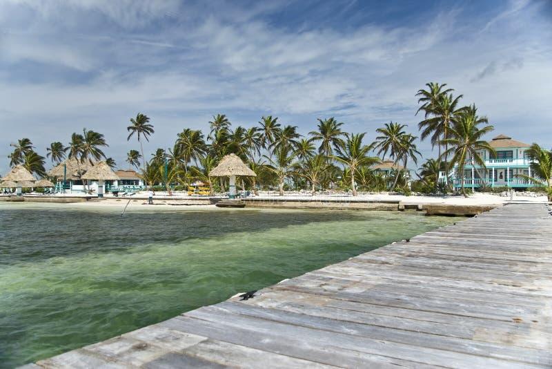 Ambergris Caye, Belice del centro turístico del filón del maya de la costa fotos de archivo