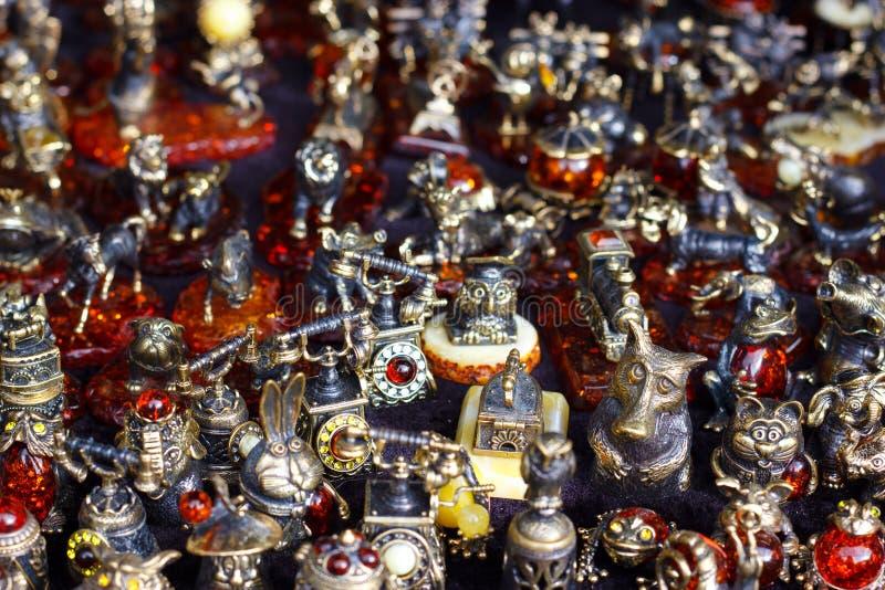 Ambermetaalcijfers royalty-vrije stock afbeeldingen