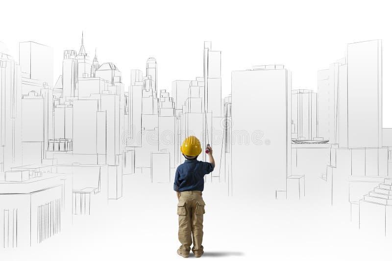Ambição de um arquiteto novo imagens de stock royalty free