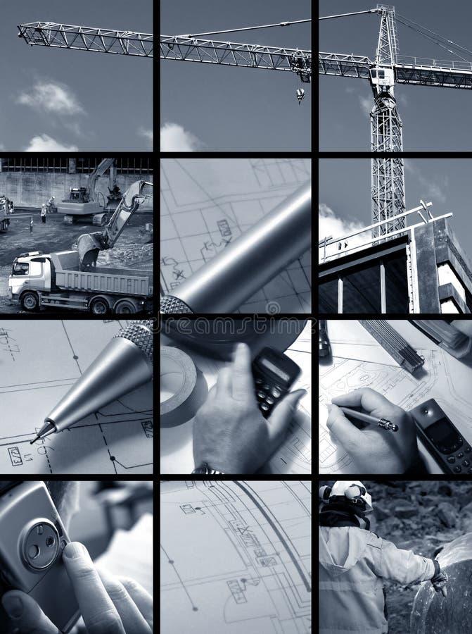 ambian budowlanych kolaż zdjęcie royalty free