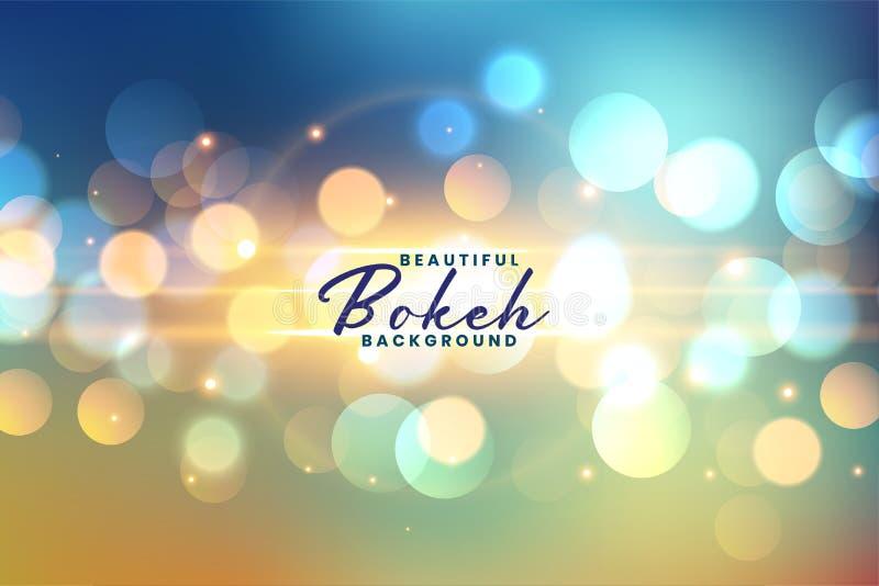 Ambiance festive avec les lumières de la bokeh en arrière-plan illustration stock