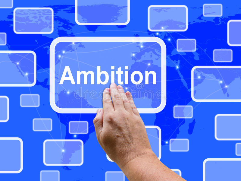 Ambicja dotyka ekranu sposobów celu cel Lub cel ilustracja wektor