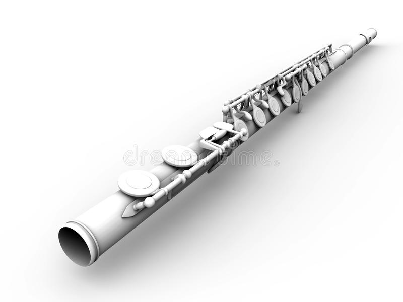 Ambient occlusion flute. 3D render illustration of an ambient occlusion flute. The object is isolated on a white background with shadows vector illustration