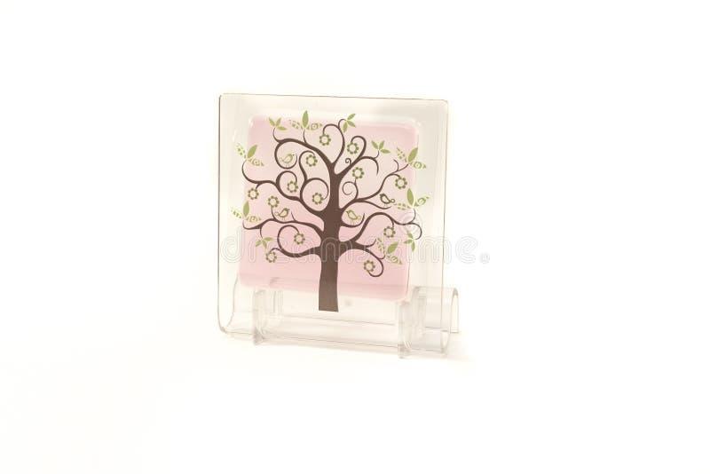 Ambientador de aire cristalino aromático aislado en el fondo blanco imágenes de archivo libres de regalías