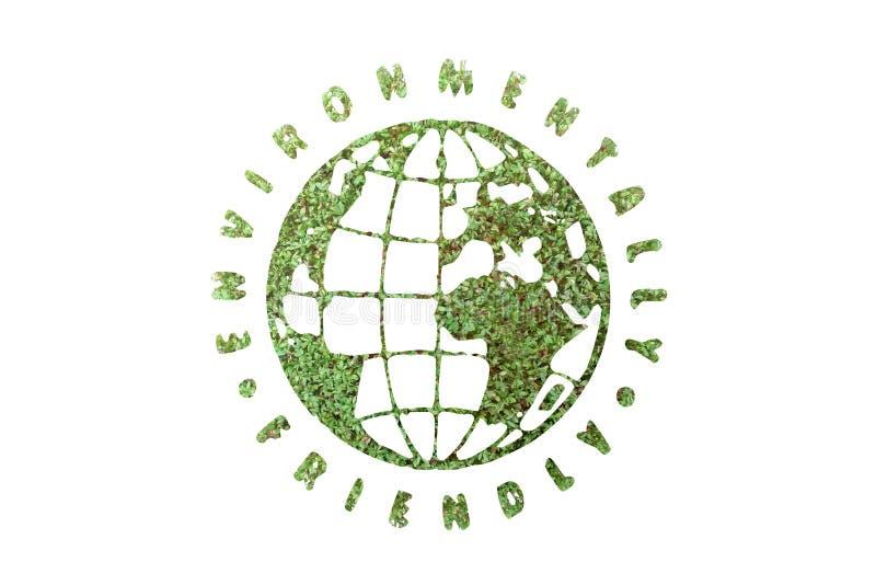 Ambiental firendly globo ilustração royalty free